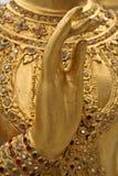 Mão dourada foto de stock royalty free