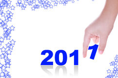 Mão e 2011 Imagem de Stock Royalty Free