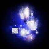 Mão e botão de Digitas Fotografia de Stock
