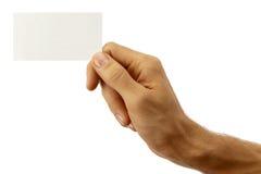 Mão e cartão Imagens de Stock