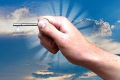 Mão e chave 3 Foto de Stock Royalty Free