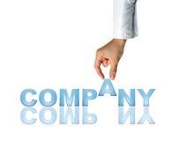 Mão e companhia da palavra Imagem de Stock Royalty Free