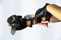 Mão e compasso Imagem de Stock Royalty Free