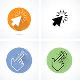 Mão e cursor da seta Imagem de Stock Royalty Free