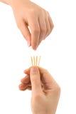 Mão e fósforos - lotes da tração Fotografia de Stock Royalty Free