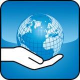 Mão e globo Foto de Stock Royalty Free