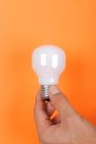 Mão e lâmpada elétrica imagens de stock royalty free