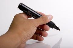 Mão e marcador isolados Fotografia de Stock