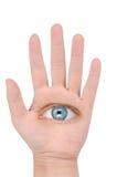 Mão e olho Fotografia de Stock Royalty Free