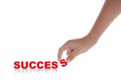 Mão e palavra isoladas no branco Fotografia de Stock Royalty Free