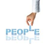 Mão e povos da palavra Foto de Stock