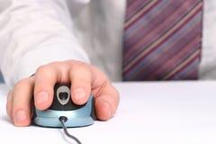 Mão e rato Imagem de Stock Royalty Free