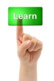 A mão e a tecla aprendem Imagem de Stock Royalty Free