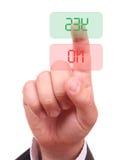 Mão e teclas sim/não Imagens de Stock
