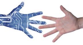 Mão eletrônica Fotografia de Stock