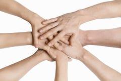 A mão empilhou Imagem de Stock Royalty Free