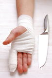 Mão enfaixada Imagem de Stock