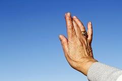 Mão envelhecida da mulher Fotos de Stock Royalty Free