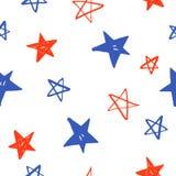 Mão esboçado estrelas tiradas Imagens de Stock Royalty Free
