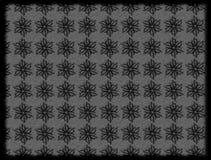 mão escura teste padrão de flores preto tirado Foto de Stock