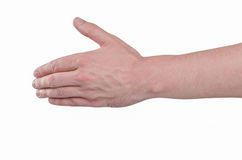Mão esticada em uma reunião, um gesto em cumprimentos Imagem de Stock Royalty Free