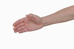 Mão esticada em uma reunião, um gesto em cumprimentos Fotografia de Stock Royalty Free