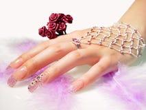 Mão fêmea bonita ilustração royalty free