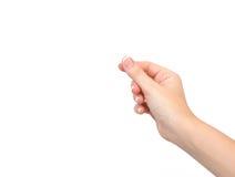 Mão fêmea no isolada imagem de stock