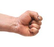 Mão fechada em um punho imagem de stock royalty free