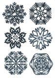 Mão - flocos de neve feitos Ilustração Stock