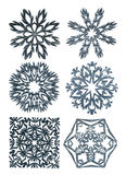 Mão - flocos de neve feitos Fotografia de Stock