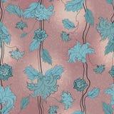 Mão floral sem emenda teste padrão tirado ilustração royalty free