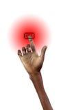 A mão gira sobre Fotos de Stock