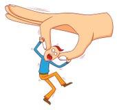 Mão grande má Fotografia de Stock Royalty Free
