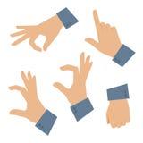 Mão humana ajustada em um fundo branco Foto de Stock Royalty Free