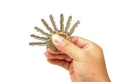 Mão humana com chaves Imagem de Stock Royalty Free