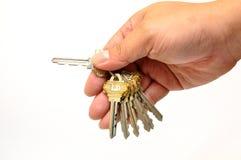 Mão humana com chaves Fotos de Stock Royalty Free