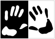 A mão imprime a ilustração Foto de Stock Royalty Free