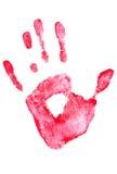 Mão. imprint Foto de Stock Royalty Free