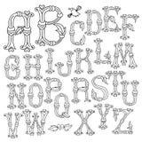 Mão lunática letras tiradas do alfabeto Imagem de Stock