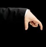 Mão masculina caucasiano em um terno de negócio isolado Imagem de Stock Royalty Free