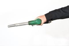 Mão masculina com bomba do posto de gasolina Imagens de Stock Royalty Free