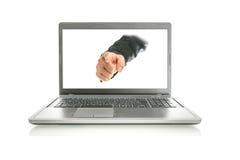 Mão masculina que aponta em você imagem de stock royalty free