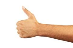 Mão masculina que gesticula a aprovação Fotografia de Stock
