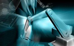 Mão mecânica de Robotâs Fotografia de Stock Royalty Free