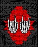 Mão, metal, símbolo ilustração do vetor