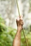Mão na corda Foto de Stock
