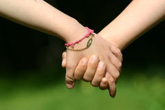 Mão na mão Fotografia de Stock Royalty Free