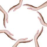 Mão na posição do círculo imagens de stock royalty free