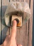 Mão no interruptor velho imagem de stock royalty free